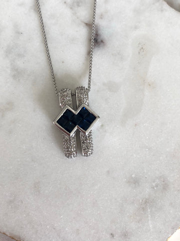 Sapphire Bar Necklace - Vassari Luxury Collection