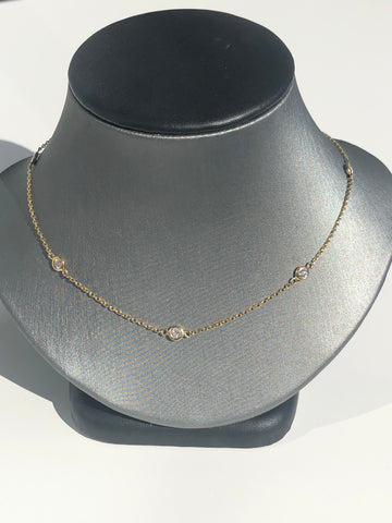10 Stone Diamond by the Yard Necklace - Vassari Luxury Collection