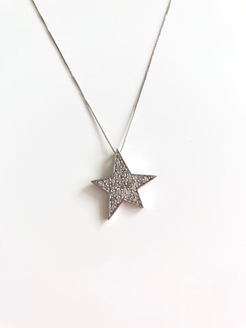 Pave Star Necklace - Vassari Luxury Collection