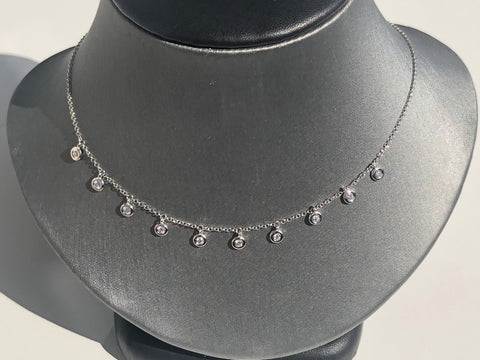 Bezel Disc Diamond Necklace - Vassari Luxury Collection