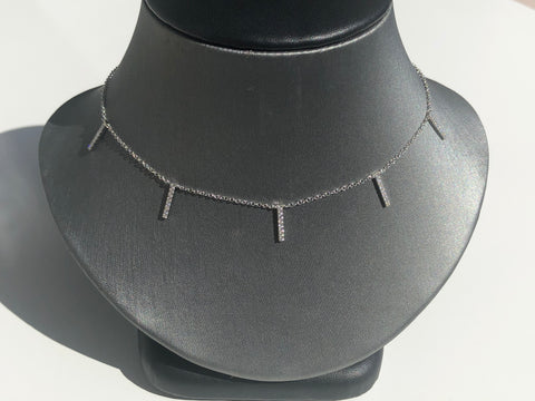Hanging Bar Necklace - Vassari Luxury Collection