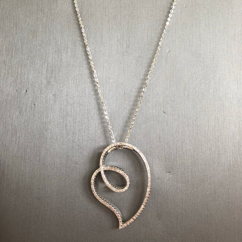 Sideway Heart Necklace - Vassari Luxury Collection