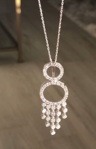 Dangling Eternity Pendant - Vassari Luxury Collection