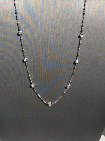 7 Stone Diamond by the Yard Necklace - Vassari Luxury Collection