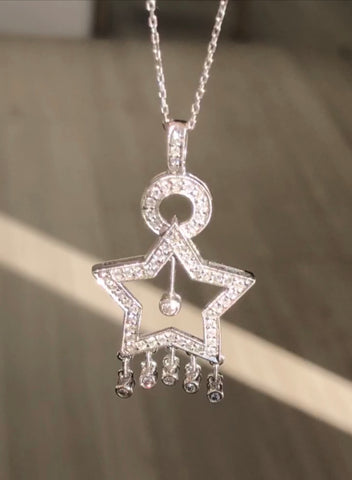 Dangling Star Pendant - Vassari Luxury Collection