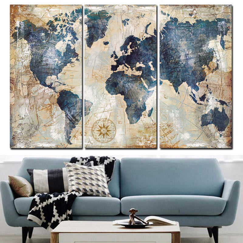 Beautiful water color world map canvas set high definition printing beautiful water color world map canvas set high definition printing sale gumiabroncs Image collections