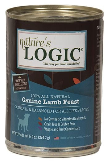 Nature's Logic Canine Grain Free Lamb Feast Canned Dog Food