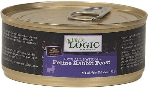 Nature's Logic Feline Rabbit Dinner Feast Canned Cat Food