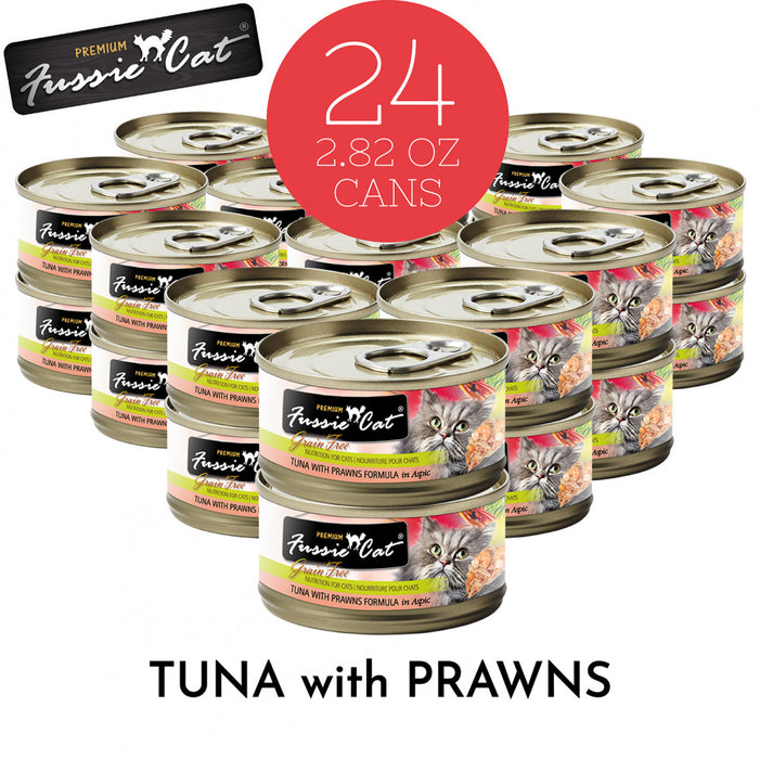 Fussie Cat Premium Tuna with Prawns Formula in Aspic Canned Food