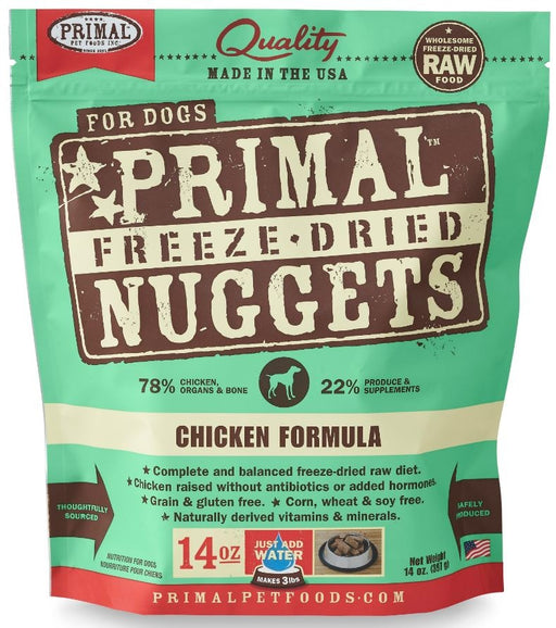 Primal Freeze Dried Nuggets Grain Free Chicken Formula Dog Food
