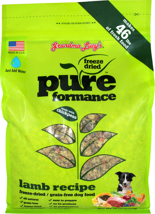 Grandma Lucy's Pureformance Lamb and Chickpea Freeze Dried Grain Free Dog Food