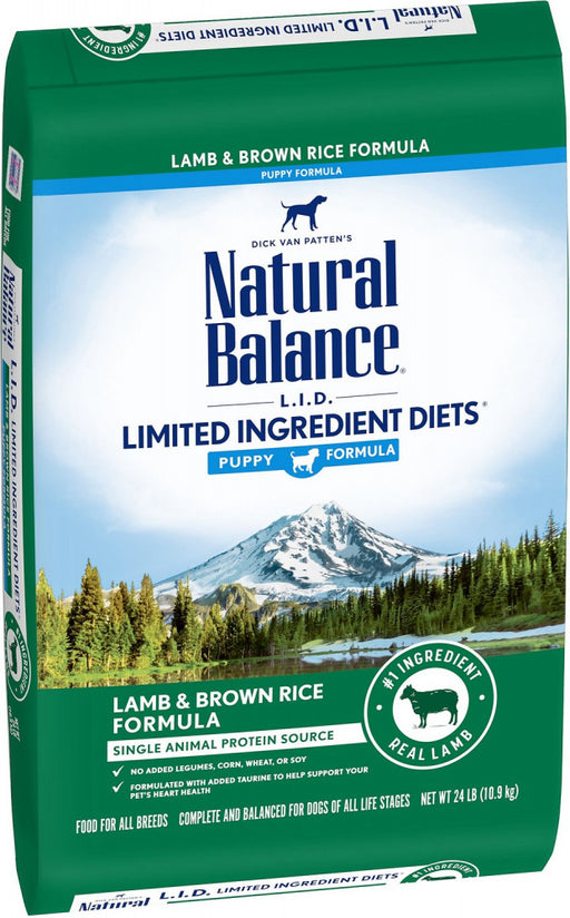 Natural Balance L.I.D. Limited Ingredient Diets Lamb & Brown Rice Puppy Formula Dry Dog Food