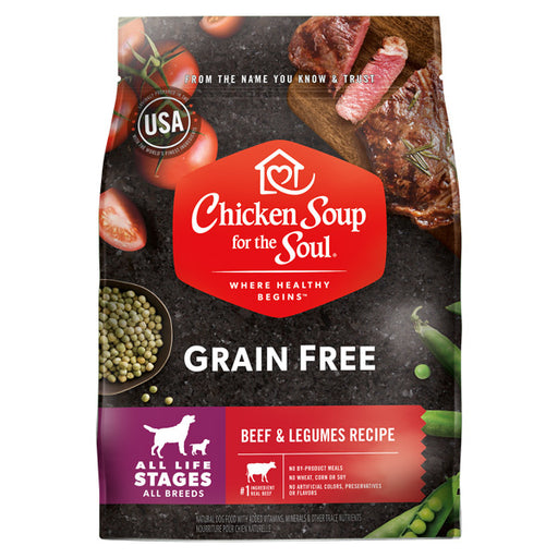Chicken Soup For The Soul Grain Free Beef and Legumes Recipe Dry Dog Food