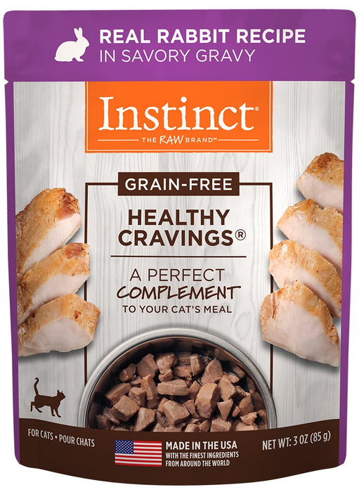 Instinct Healthy Cravings Grain Free Real Rabbit Recipe Natural Wet Cat Food Topper