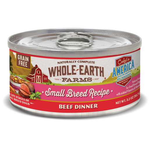 Whole Earth Farms Grain Free Small Breed Beef Recipe Canned Dog Food
