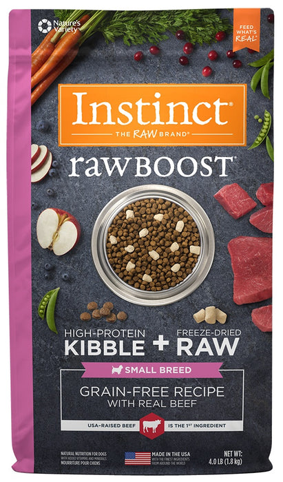 Nature's Variety Instinct Grain Free Raw Boost Small Breed Recipe with Real Beef Dry Dog Food