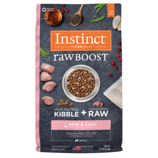 Instinct Raw Boost Grain Free Skin & Coat Health Recipe with Real Chicken Dry Dog Food