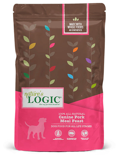 Nature's Logic Canine Pork Meal Feast Dry Dog Food