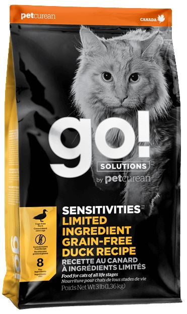 Petcurean GO! Solutions Sensitivities Limited Ingredient Duck Recipe Dry Cat Food
