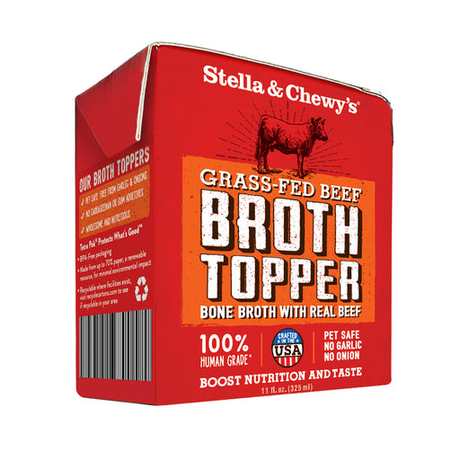 Stella & Chewy's Grass Fed Beef Broth Food Topper for Dogs