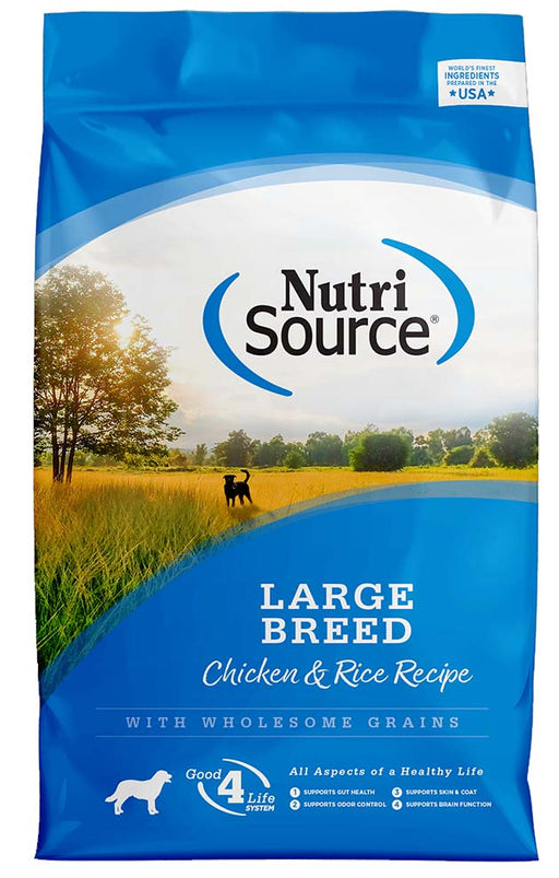 Nutrisource Large Breed Adult Chicken and Rice Dry Dog Food, 30lbs