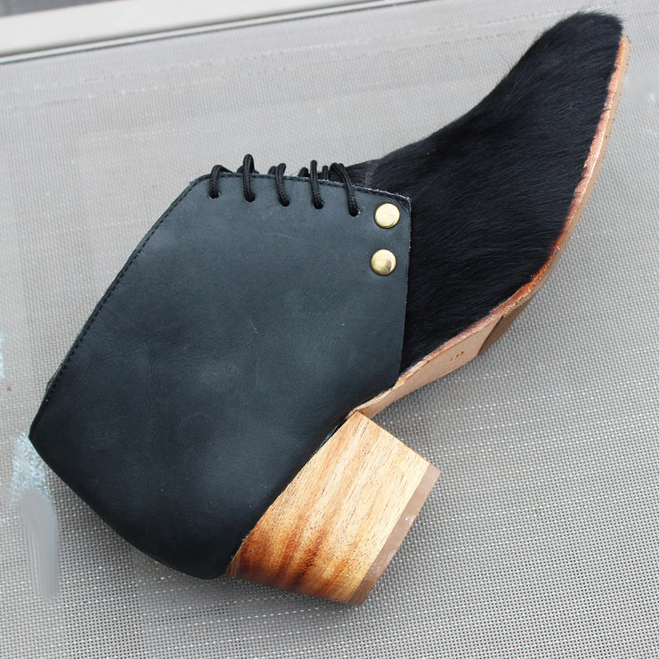 Dineo Bootie In Black Cowhide / Diesel Black
