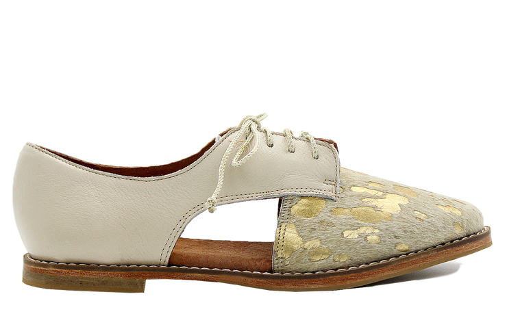 Benya Oxford In Nguni Gold / Latte