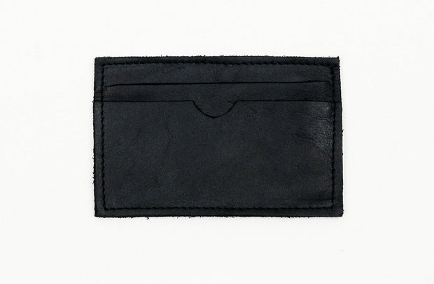 Leather Card Holder In Black - Matsidiso International