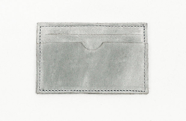 Leather Card Holder In Grey - Matsidiso International