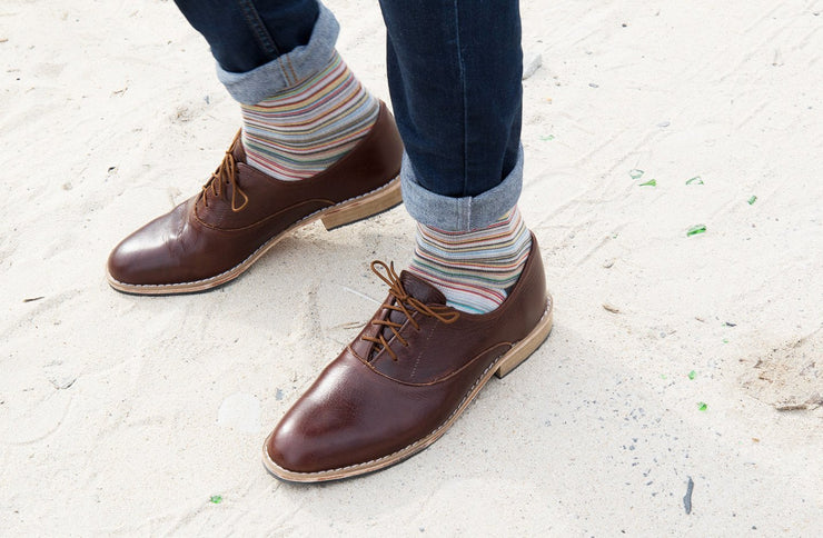 Mens Khule Oxford In Espresso - Matsidiso International