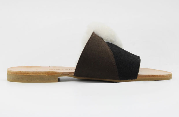 Nia Slider In Wool / Suede - Matsidiso International