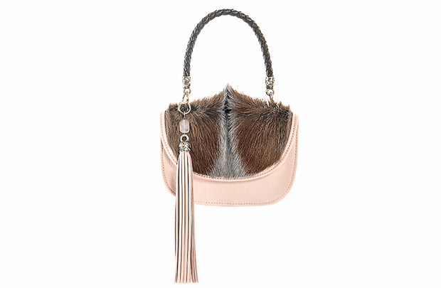 The Camille Bag In Ballet Pink / Springbok