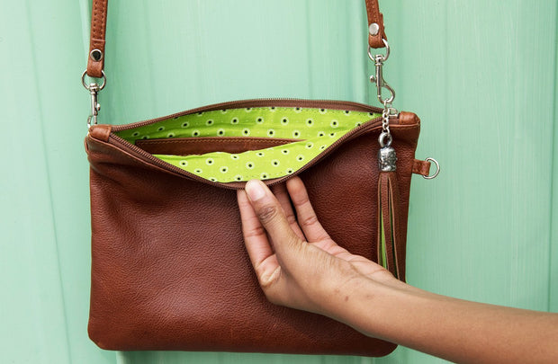 The Day Sling In Toffee Leather - Matsidiso International