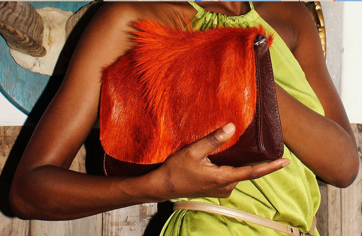 The Mavorneen Clutch In Orange - Matsidiso International