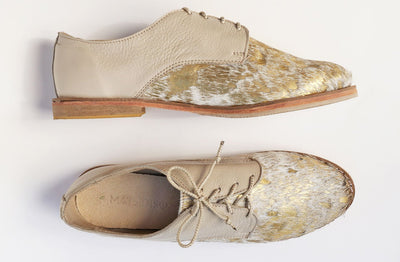 Zola In Speckled Gold Bovine / Latte - Matsidiso International