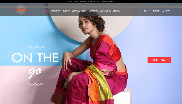 SAREES WEBSITES ON SHOPIFY