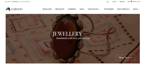 JEWELLERY WEBSITE ON SHOPIFY