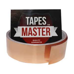 "1"" X 10ft - 1 Mil Copper Foil EMI Shielding Conductive Adhesive Tape, 10 ft Copper Foil Tapes- Tapes Master"