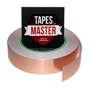 "1"" X 36 yards - 1 Mil Copper Foil EMI Shielding Conductive Adhesive Tape, 36 Yards Copper Foil Tapes- Tapes Master"