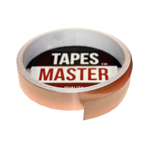 "1/2"" X 10ft - 1 Mil Copper Foil EMI Shielding Conductive Adhesive Tape, 10 ft Copper Foil Tapes- Tapes Master"