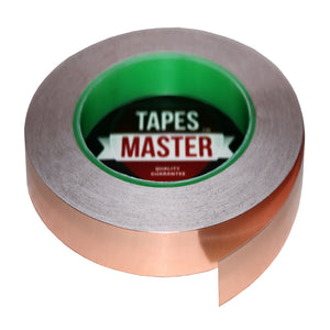 "1/2"" X 36 yards - 1 Mil Copper Foil EMI Shielding Conductive Adhesive Tape, 36 Yards Copper Foil Tapes- Tapes Master"