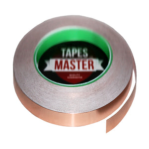 "1/4"" X 36 yards - 1 Mil Copper Foil EMI Shielding Conductive Adhesive Tape, 36 Yards Copper Foil Tapes- Tapes Master"