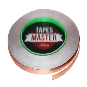 "1/8"" X 36 yards - 1 Mil Copper Foil EMI Shielding Conductive Adhesive Tape, 36 Yards Copper Foil Tapes- Tapes Master"