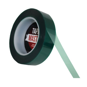 "1"" x 72 yds - 2 Mil Green Powder Coating Masking Tape - High Temperature, Green Powder Coating Tapes- Tapes Master"
