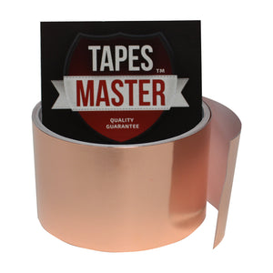 "2"" X 10ft - 1 Mil Copper Foil EMI Shielding Conductive Adhesive Tape, 10 ft Copper Foil Tapes- Tapes Master"