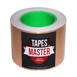"3"" X 36 yards - 1 Mil Copper Foil EMI Shielding Conductive Adhesive Tape, 36 Yards Copper Foil Tapes- Tapes Master"