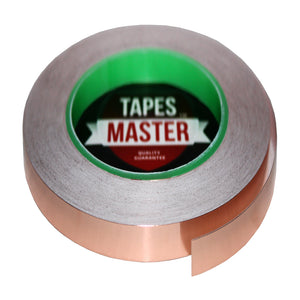 "3/8"" X 36 yards - 1 Mil Copper Foil EMI Shielding Conductive Adhesive Tape, 36 Yards Copper Foil Tapes- Tapes Master"