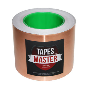 "4"" X 36 yards - 1 Mil Copper Foil EMI Shielding Conductive Adhesive Tape, 36 Yards Copper Foil Tapes- Tapes Master"
