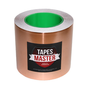 "5"" X 36 yards - 1 Mil Copper Foil EMI Shielding Conductive Adhesive Tape, 36 Yards Copper Foil Tapes- Tapes Master"