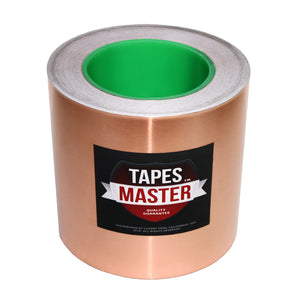"6"" X 36 yards - 1 Mil Copper Foil EMI Shielding Conductive Adhesive Tape, 36 Yards Copper Foil Tapes- Tapes Master"